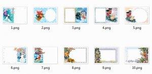 Новогодние рамки-открытки для фотошоп