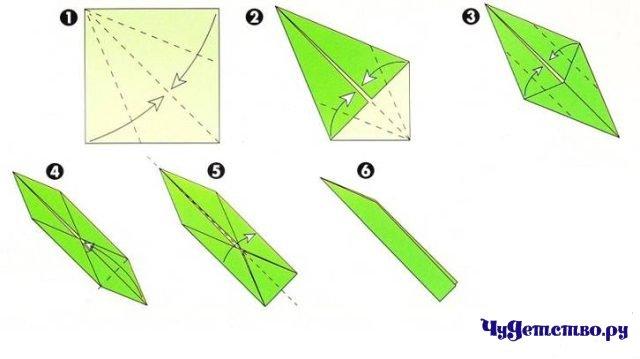Как сделать оригами ромашки