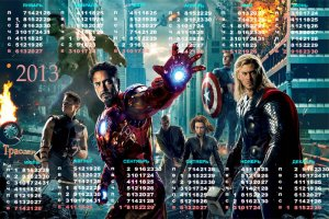 Календарь на 2013 год - Мстители