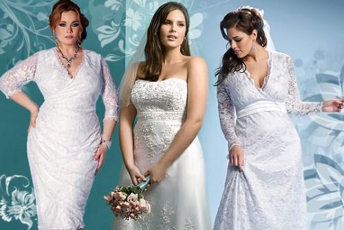 Свадебные платья для полных девушек фото