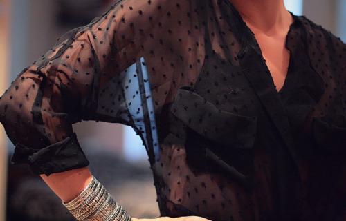 Как носить прозрачную блузку фото