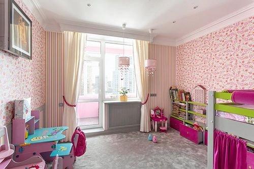 Дизайн детских комнат с балконом
