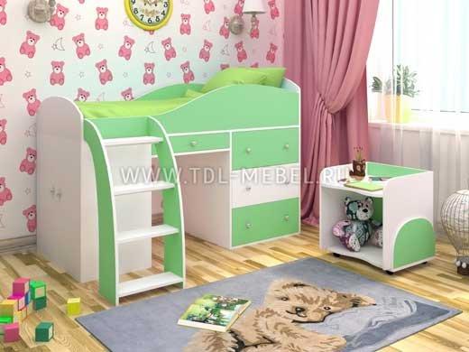 Кровать-чердак в интерьере современной детской: возможности и варианты исполнения
