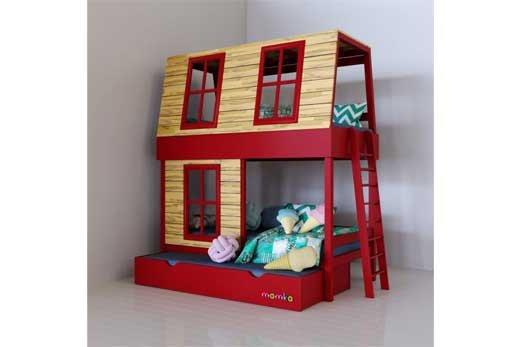 Сказка в детской: кровать-домик