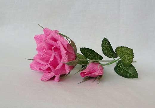 Бумажные цветы своими руками - идеи