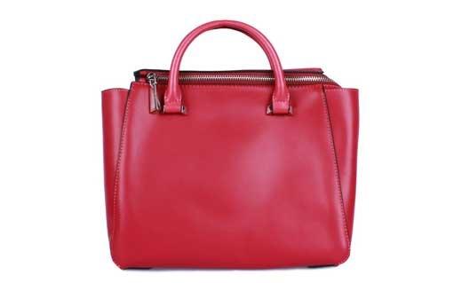 Бордовые кожаные женские сумки