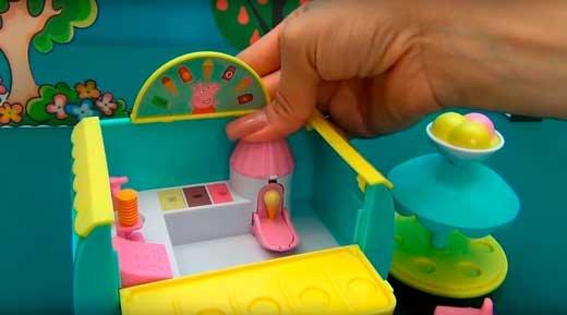 Кафе-мороженое Свинки Пеппы, обзоры игрушек